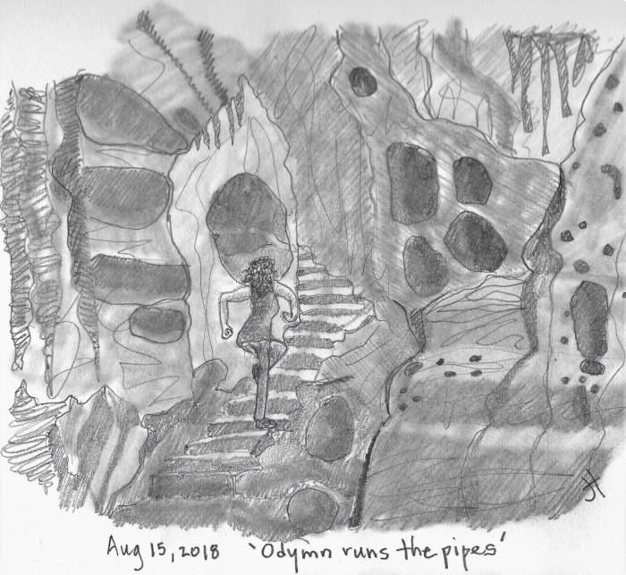 Odymn runs the pipes