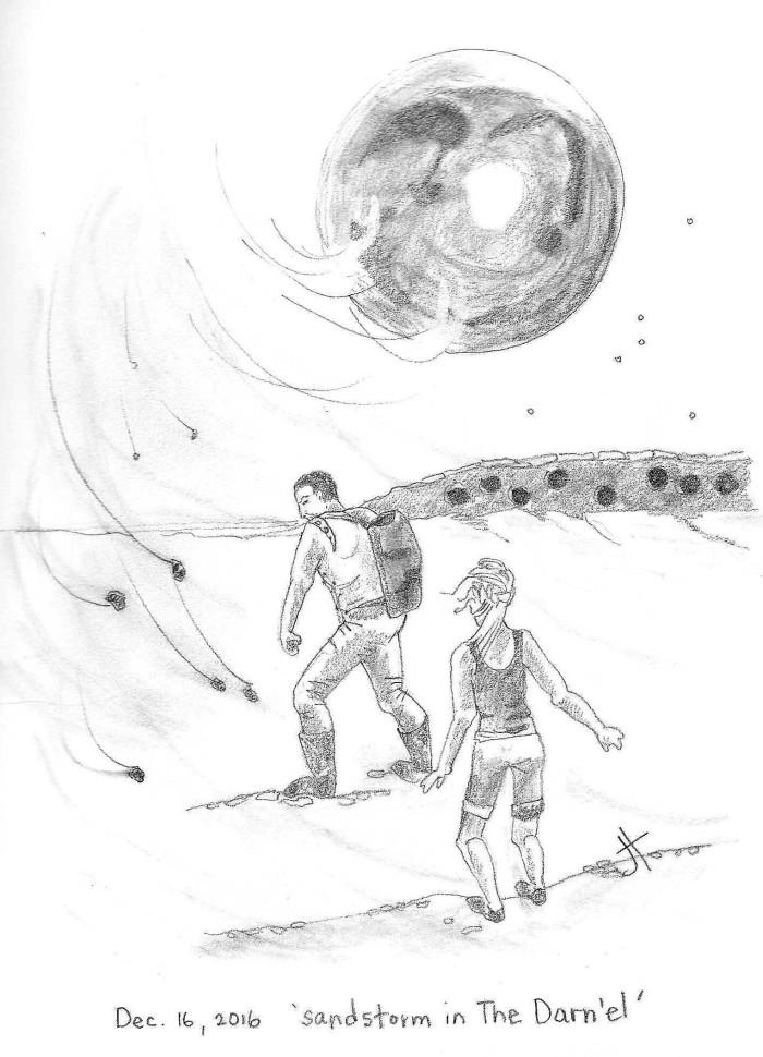 'sandstorm in The Darn-el'test